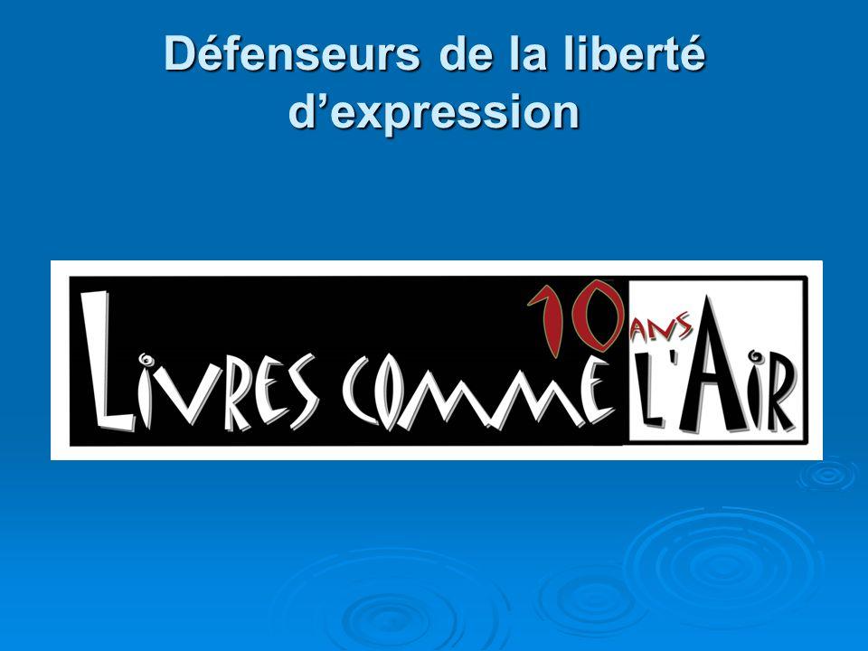 Défenseurs de la liberté d'expression