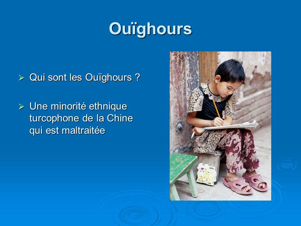 Ouïghours Qui sont les Ouïghours