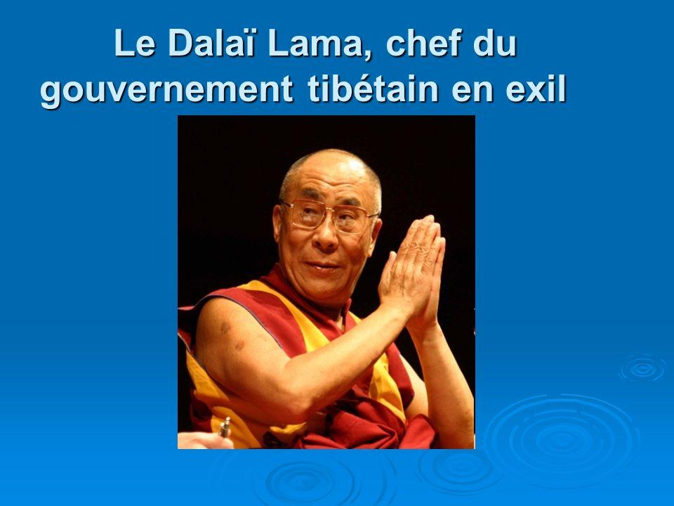 Le Dalaï Lama, chef du gouvernement tibétain en exil