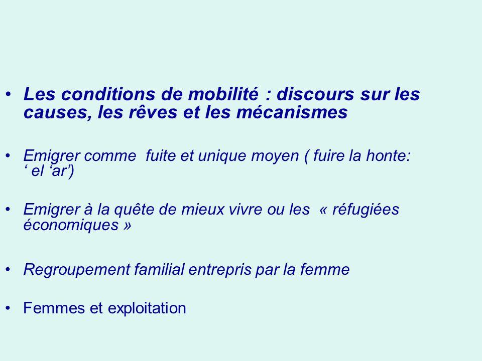 Les conditions de mobilité : discours sur les causes, les rêves et les mécanismes