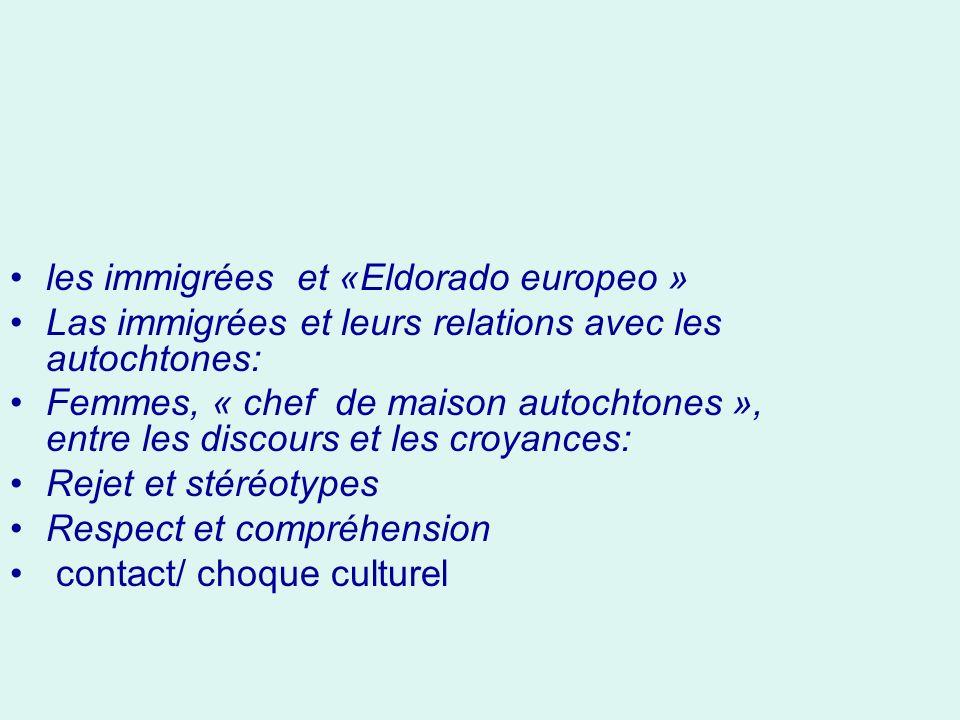 les immigrées et «Eldorado europeo »
