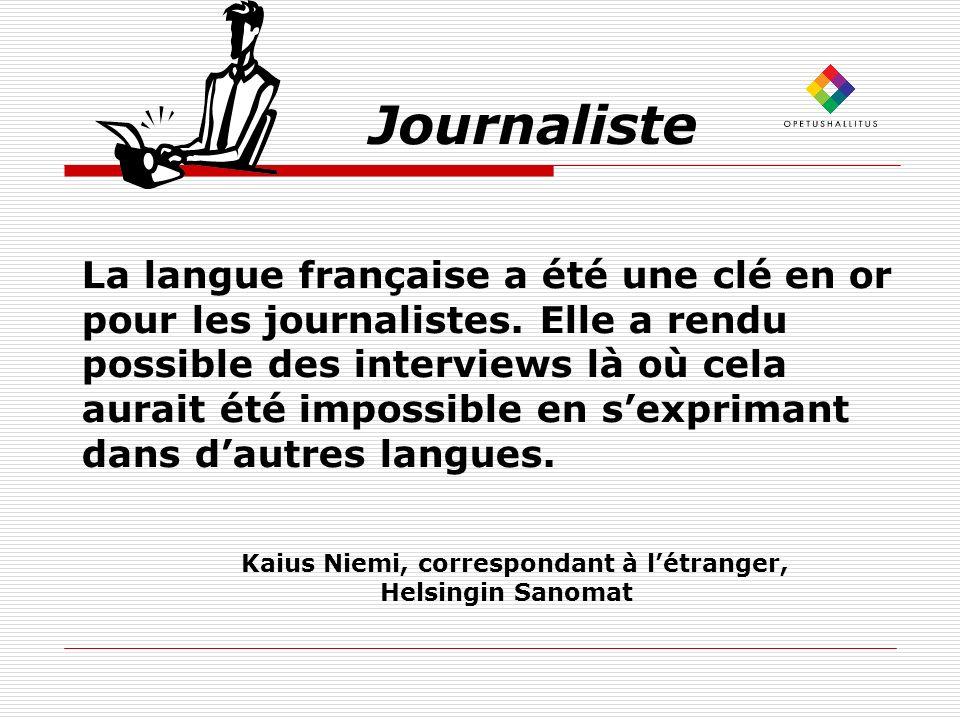 Kaius Niemi, correspondant à l'étranger,