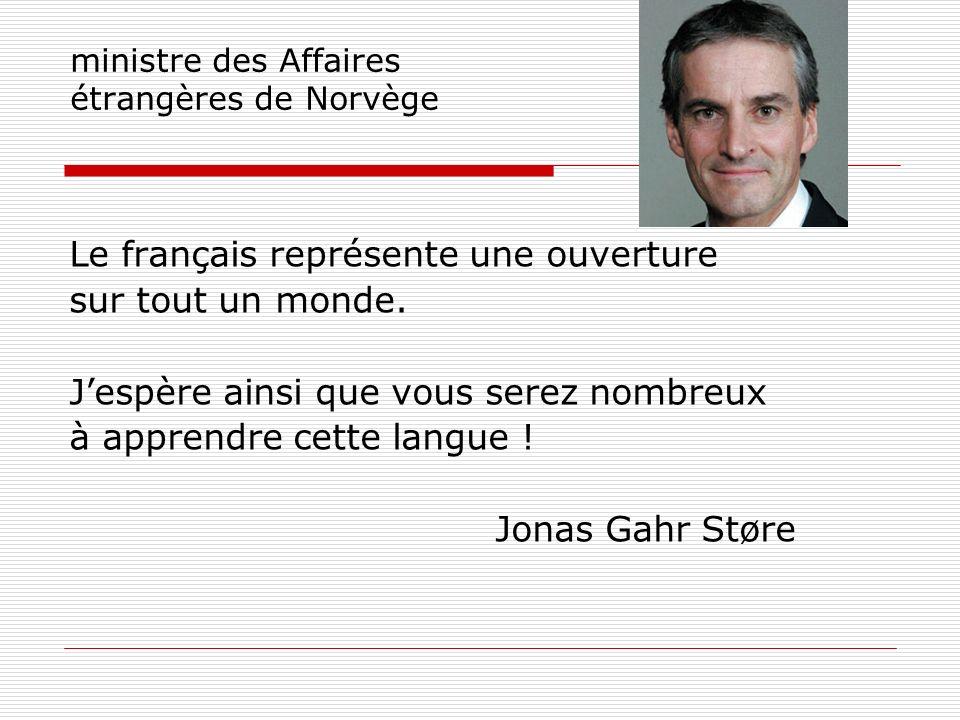 ministre des Affaires étrangères de Norvège