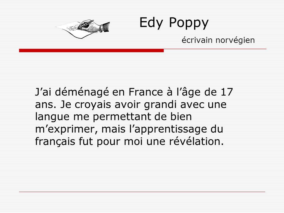 Edy Poppy écrivain norvégien