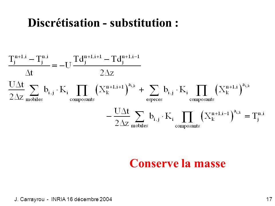 Discrétisation - substitution :