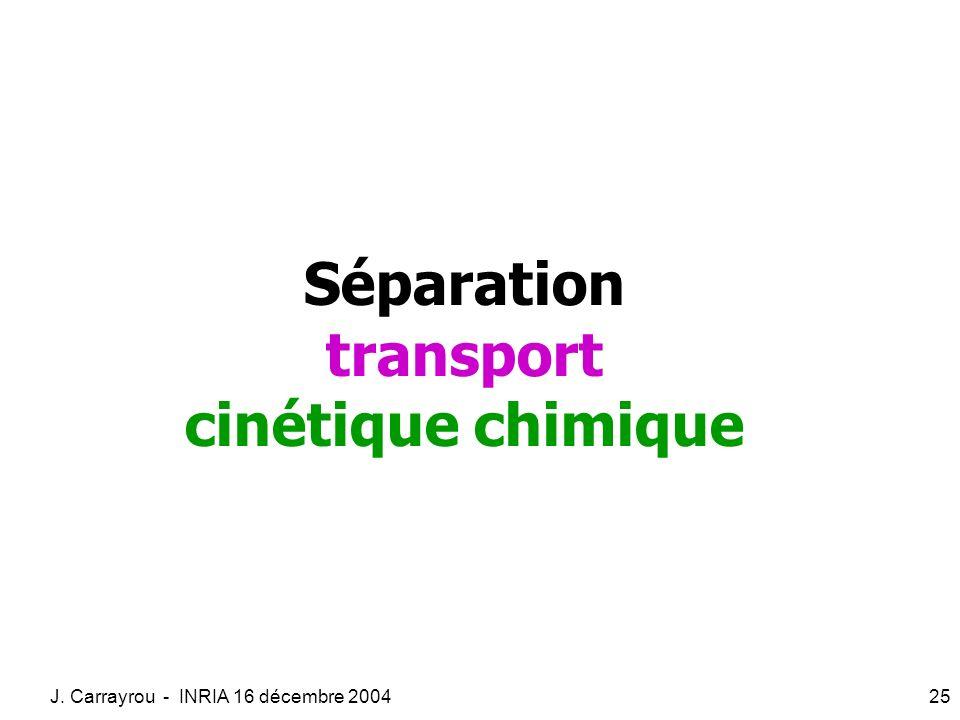 Séparation transport cinétique chimique