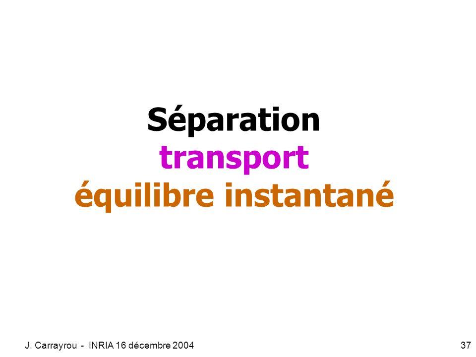 Séparation transport équilibre instantané