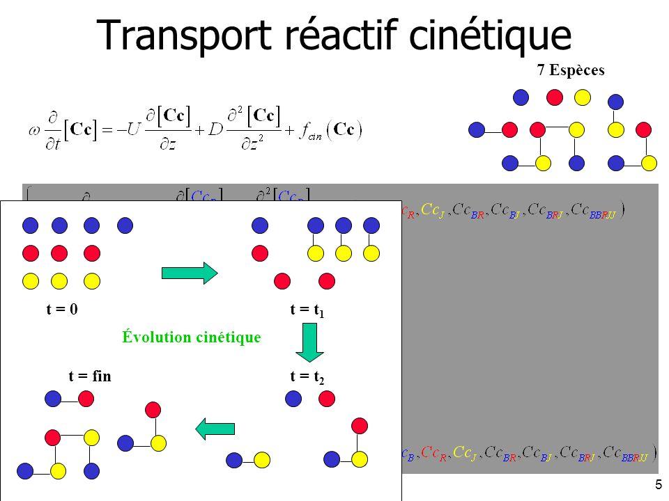 Transport réactif cinétique