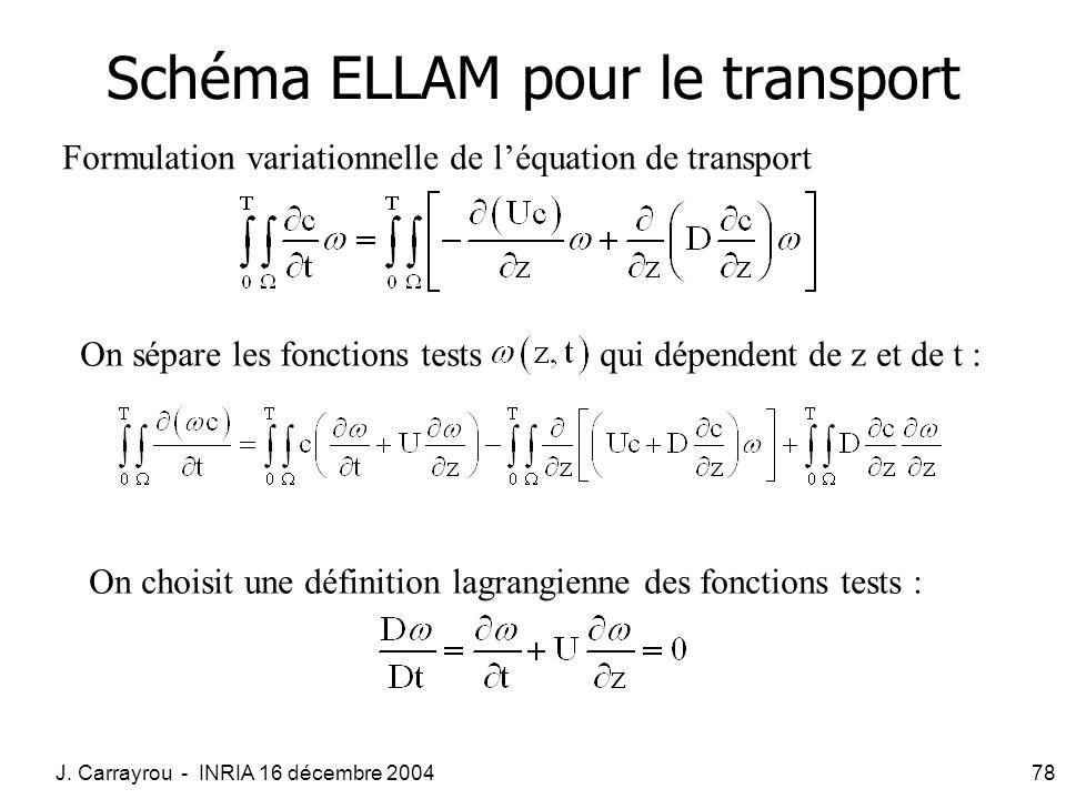 Schéma ELLAM pour le transport
