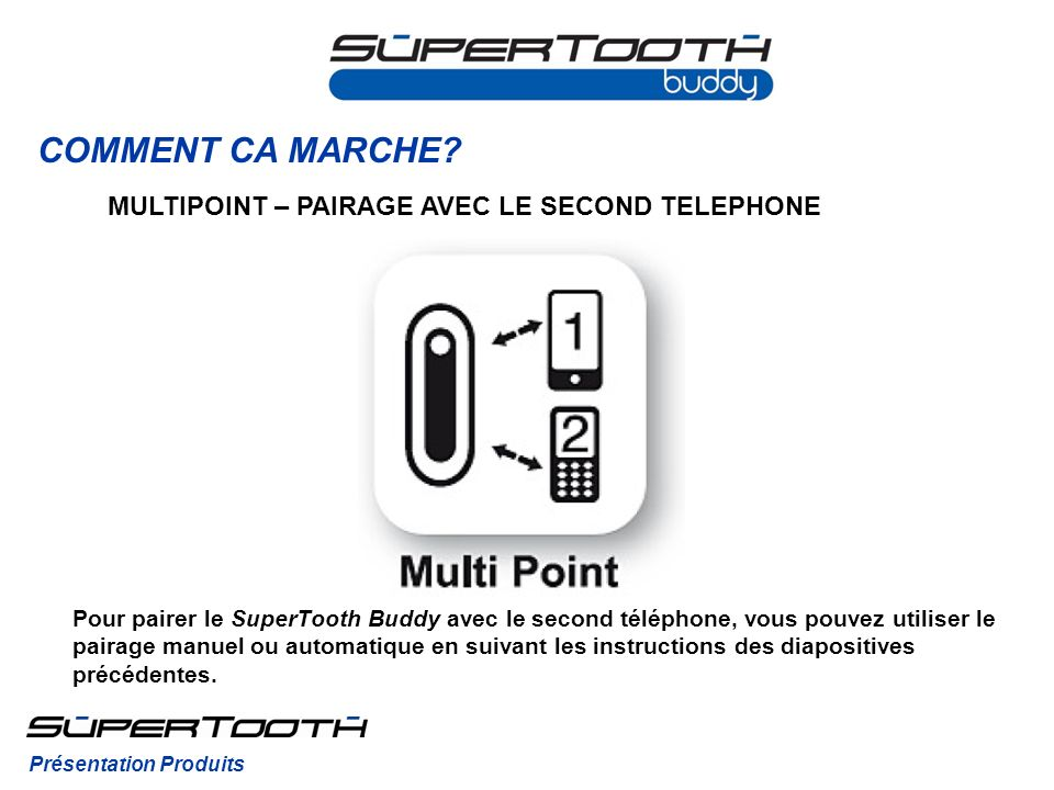 COMMENT CA MARCHE MULTIPOINT – PAIRAGE AVEC LE SECOND TELEPHONE