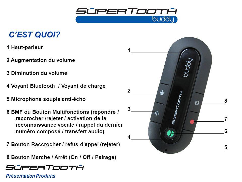 C'EST QUOI 1 Haut-parleur 1 2 Augmentation du volume