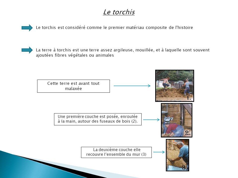 Le torchis Le torchis est considéré comme le premier matériau composite de l histoire.