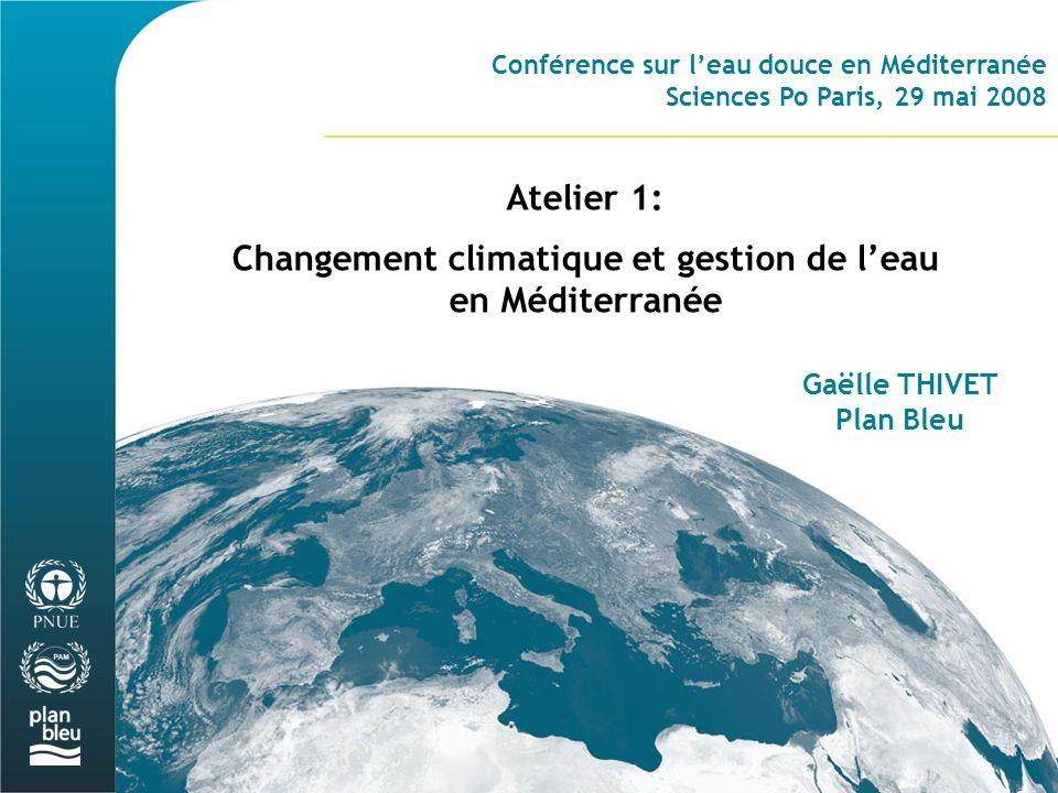 Changement climatique et gestion de l'eau