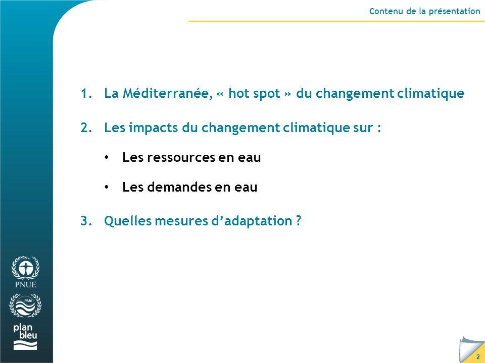 La Méditerranée, « hot spot » du changement climatique
