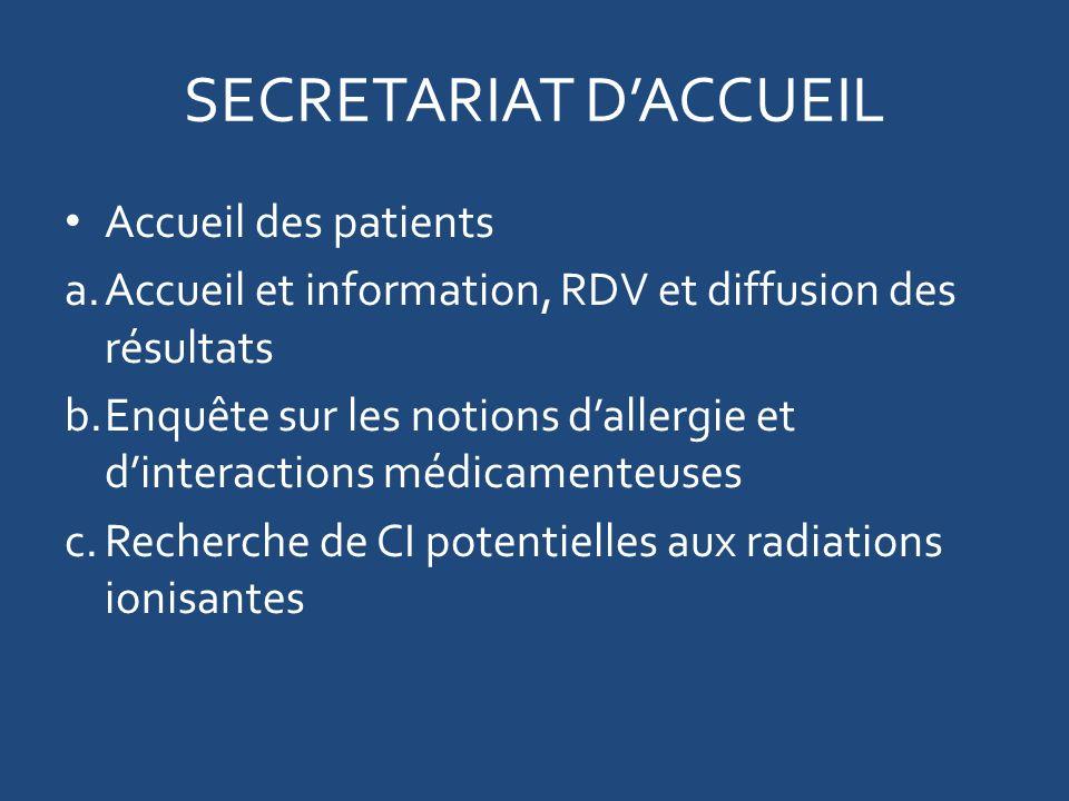SECRETARIAT D'ACCUEIL