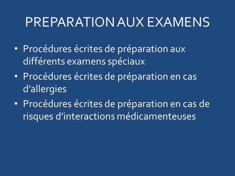 PREPARATION AUX EXAMENS
