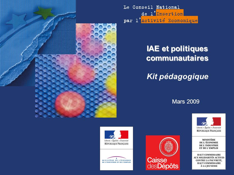 IAE et politiques communautaires Kit pédagogique
