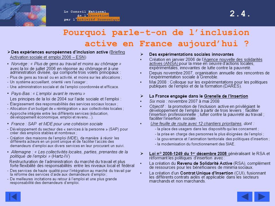 Pourquoi parle-t-on de l'inclusion active en France aujourd'hui