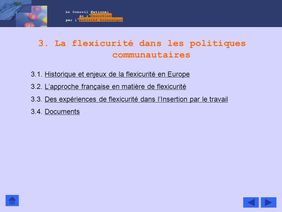 3. La flexicurité dans les politiques communautaires