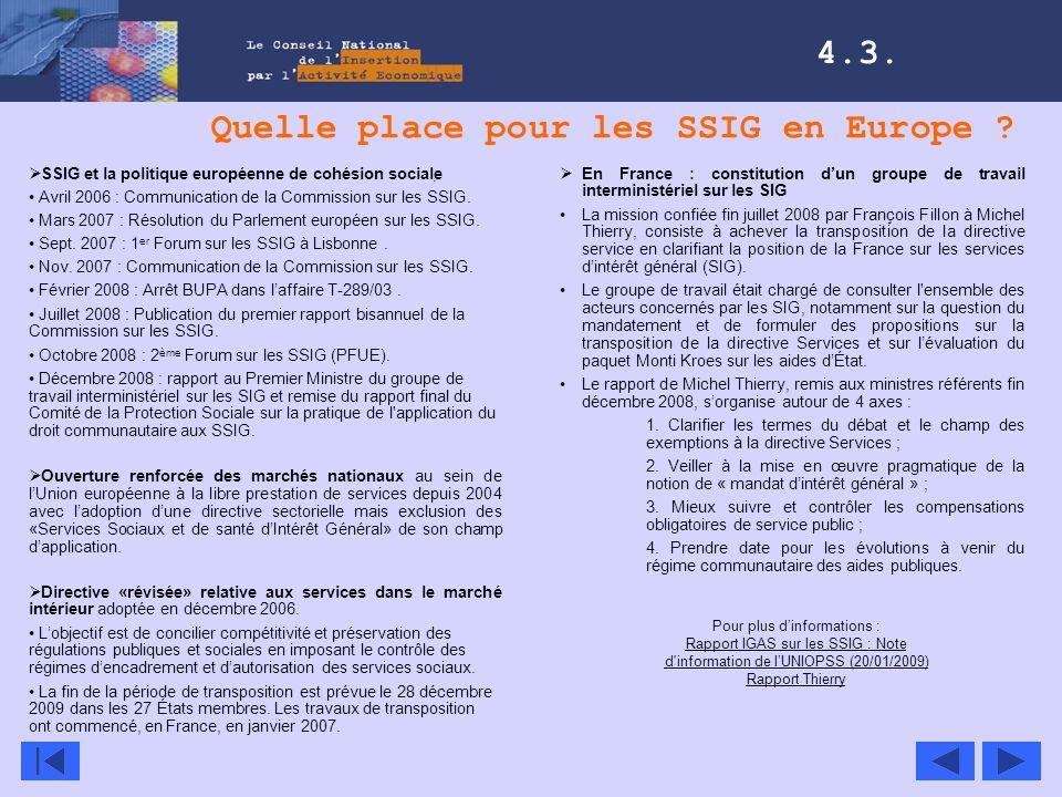 Quelle place pour les SSIG en Europe