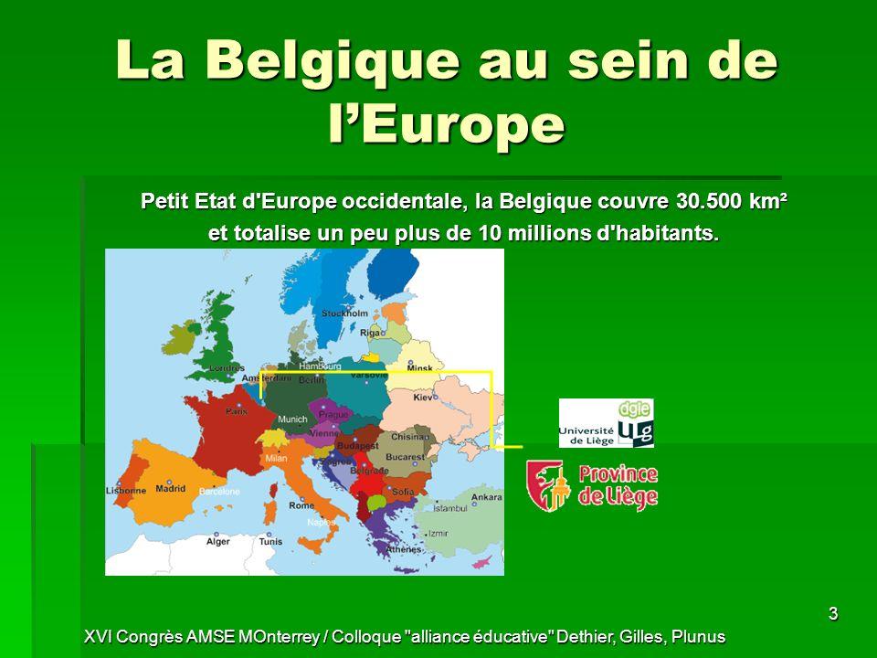 La Belgique au sein de l'Europe