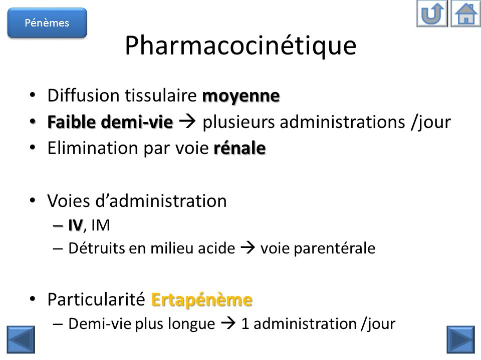 Pharmacocinétique Diffusion tissulaire moyenne