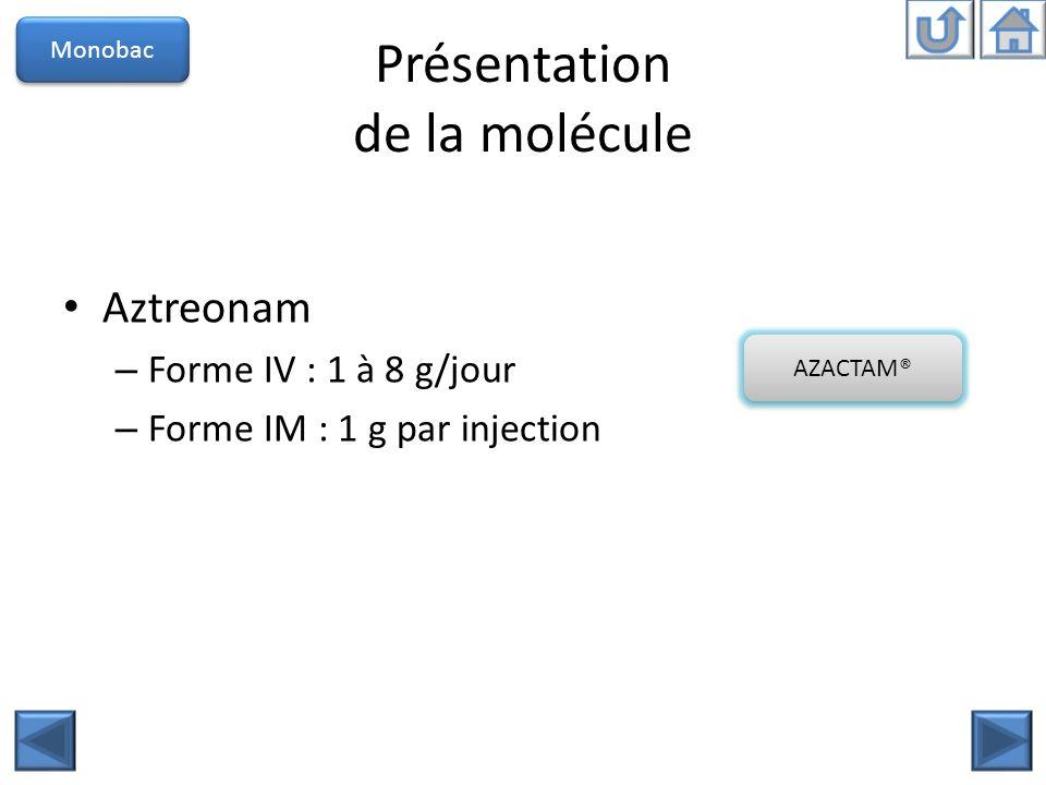 Présentation de la molécule