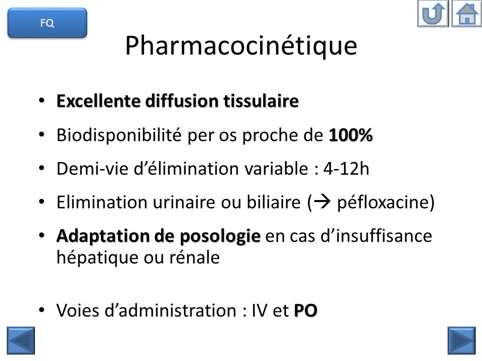 Pharmacocinétique Excellente diffusion tissulaire