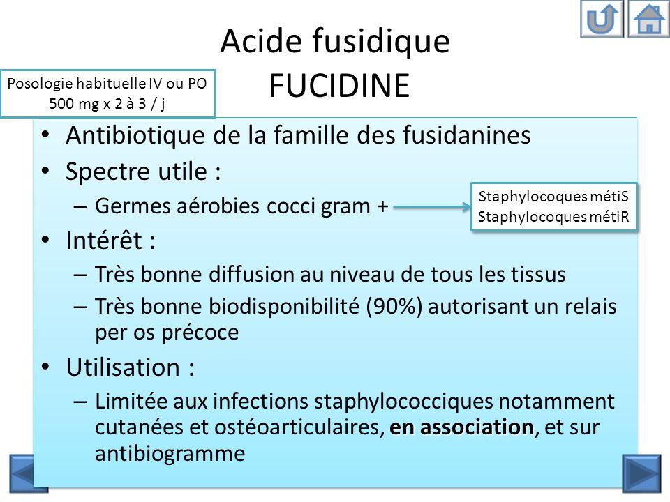 Acide fusidique FUCIDINE
