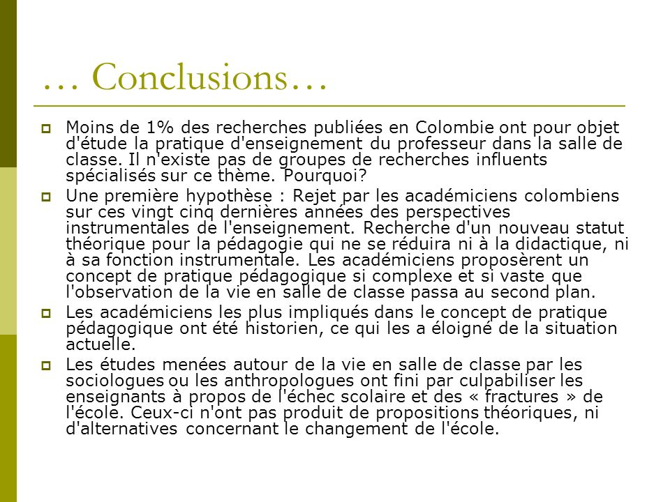 … Conclusions…