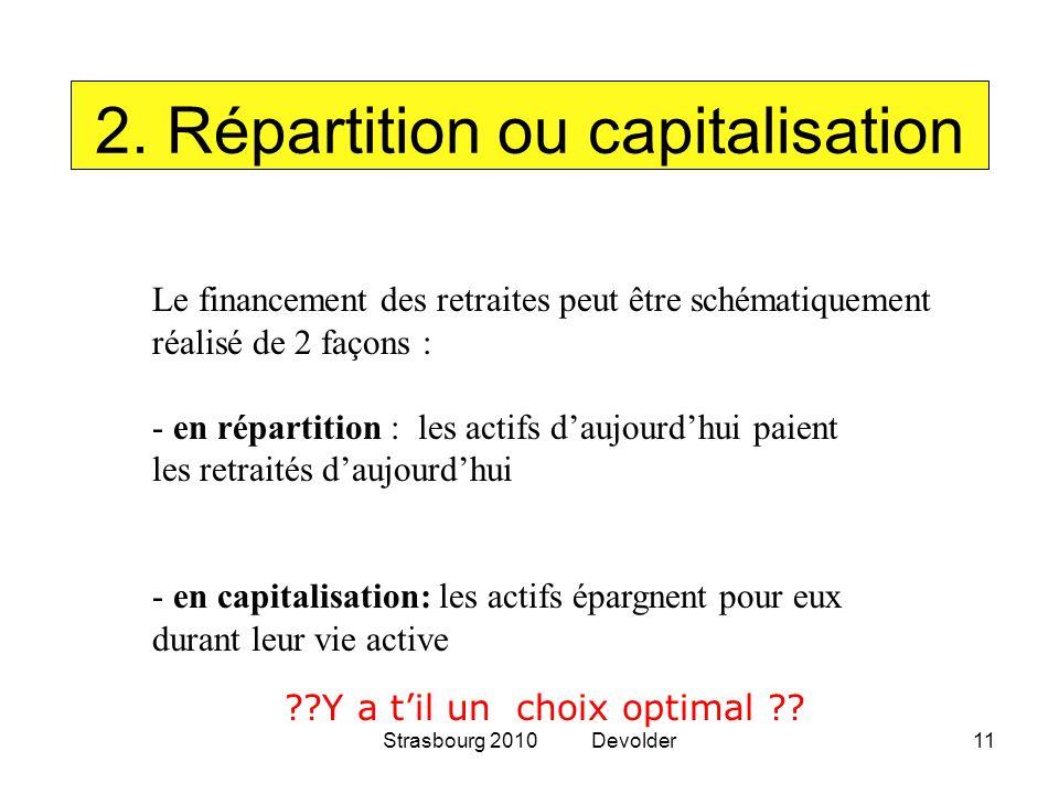 2. Répartition ou capitalisation