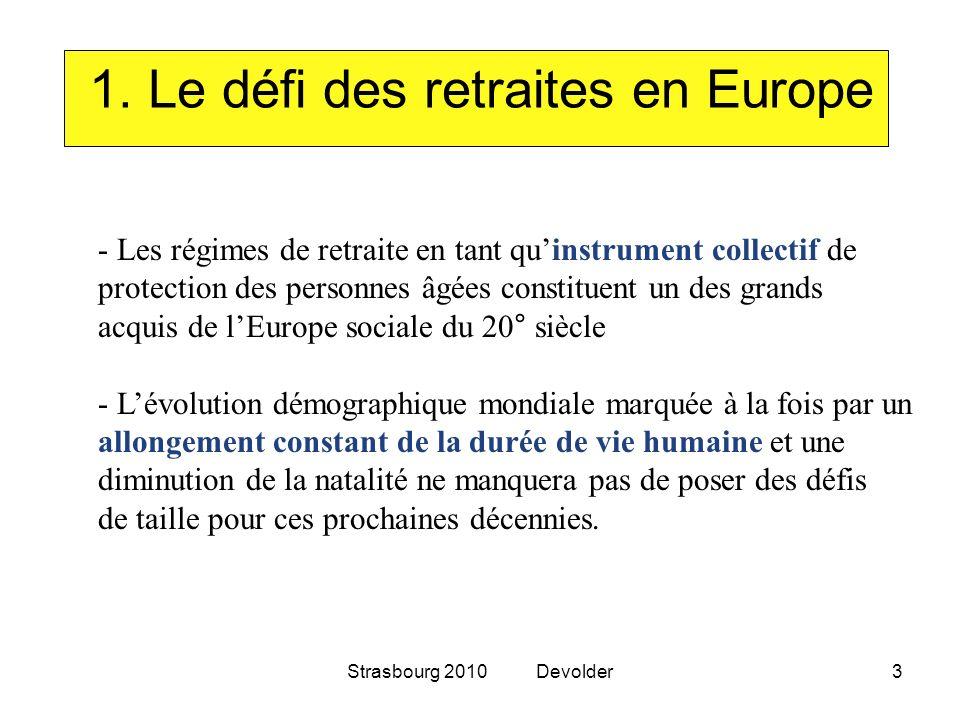 1. Le défi des retraites en Europe