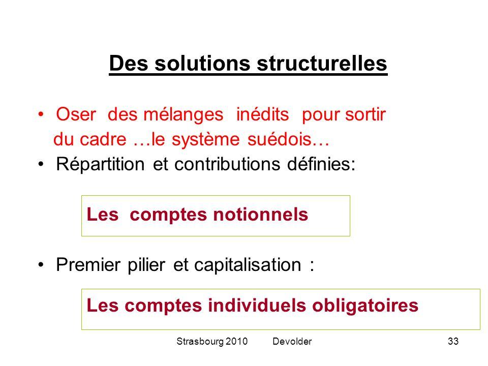 Des solutions structurelles