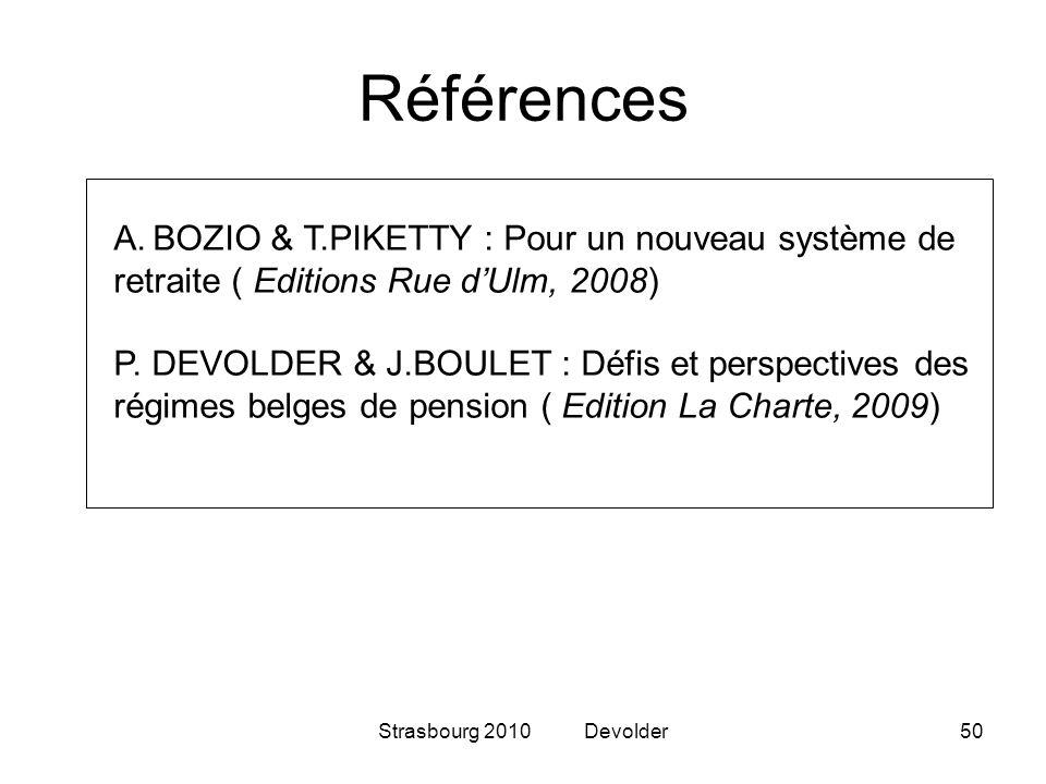 Références BOZIO & T.PIKETTY : Pour un nouveau système de