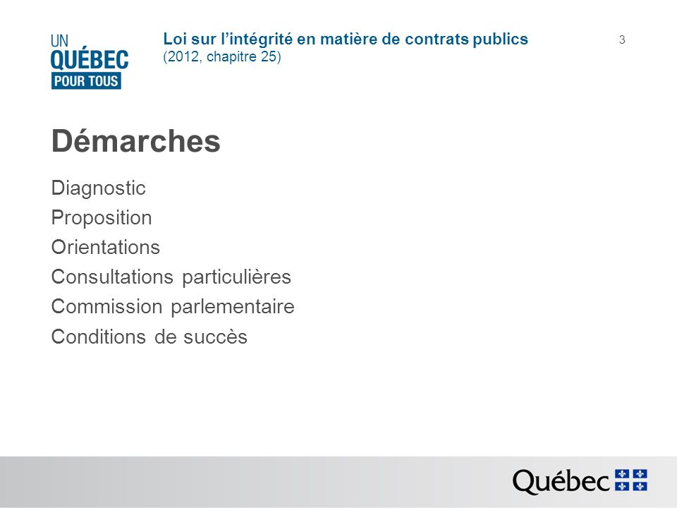 Démarches Diagnostic Proposition Orientations