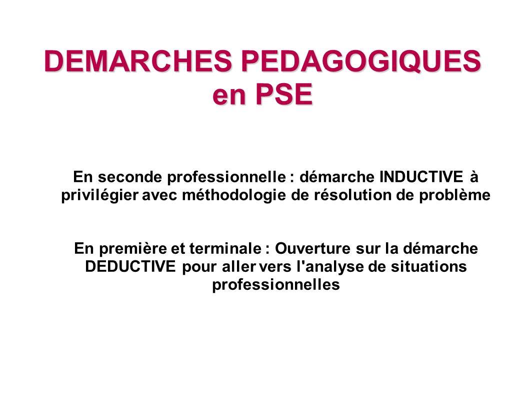 DEMARCHES PEDAGOGIQUES en PSE