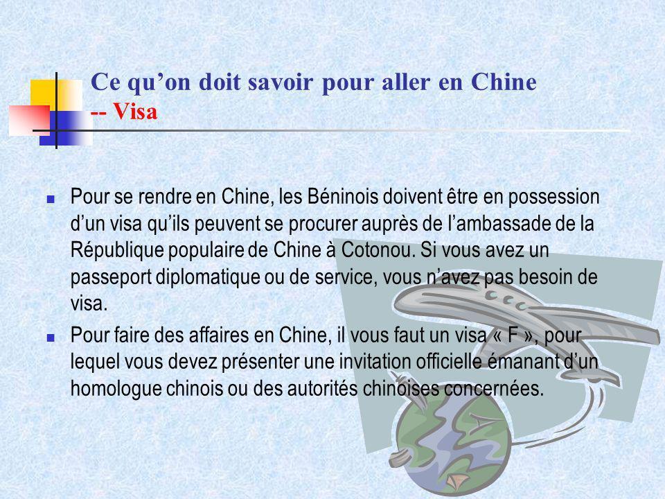 Ce qu'on doit savoir pour aller en Chine -- Visa