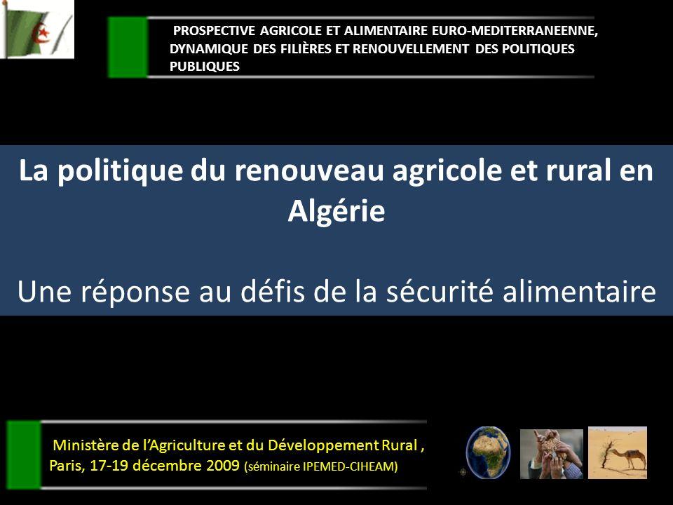 La politique du renouveau agricole et rural en Algérie