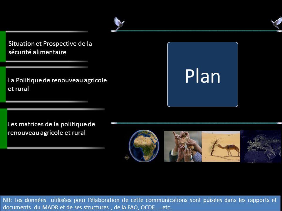 Plan Situation et Prospective de la sécurité alimentaire