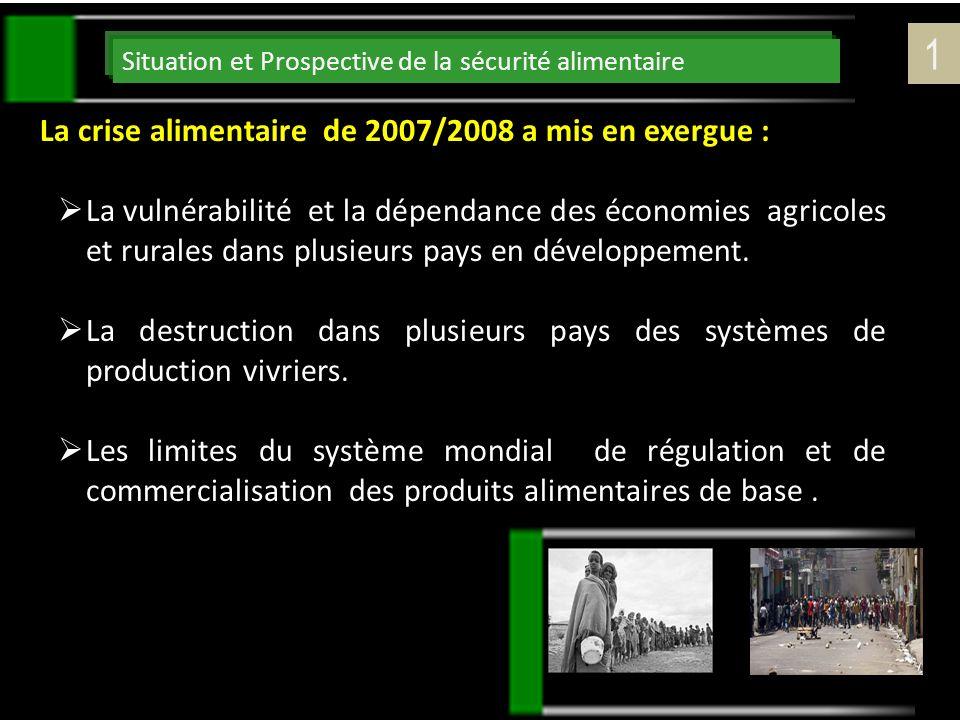 1 La crise alimentaire de 2007/2008 a mis en exergue :