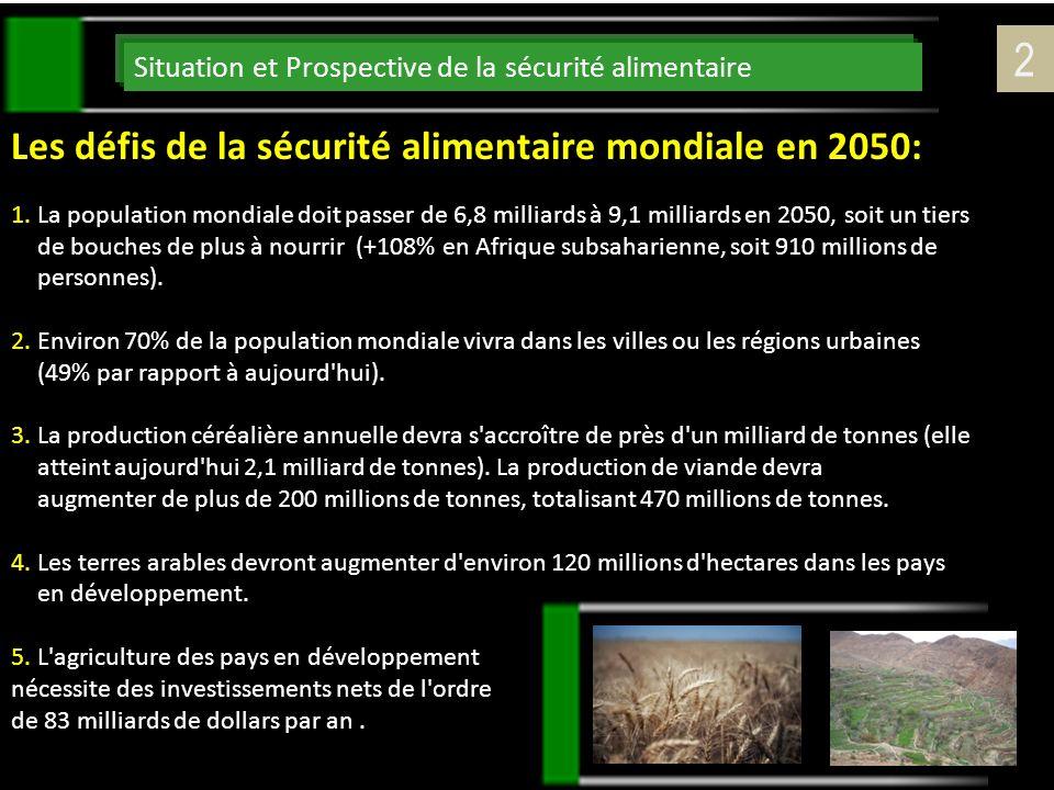 2 Les défis de la sécurité alimentaire mondiale en 2050: