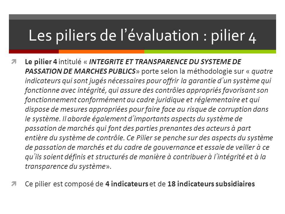 Les piliers de l'évaluation : pilier 4