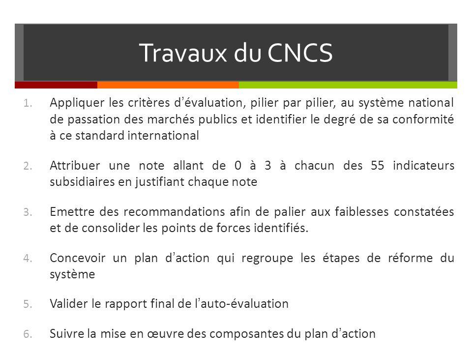 Travaux du CNCS
