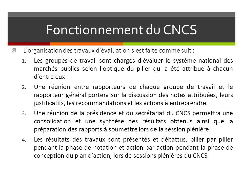Fonctionnement du CNCS