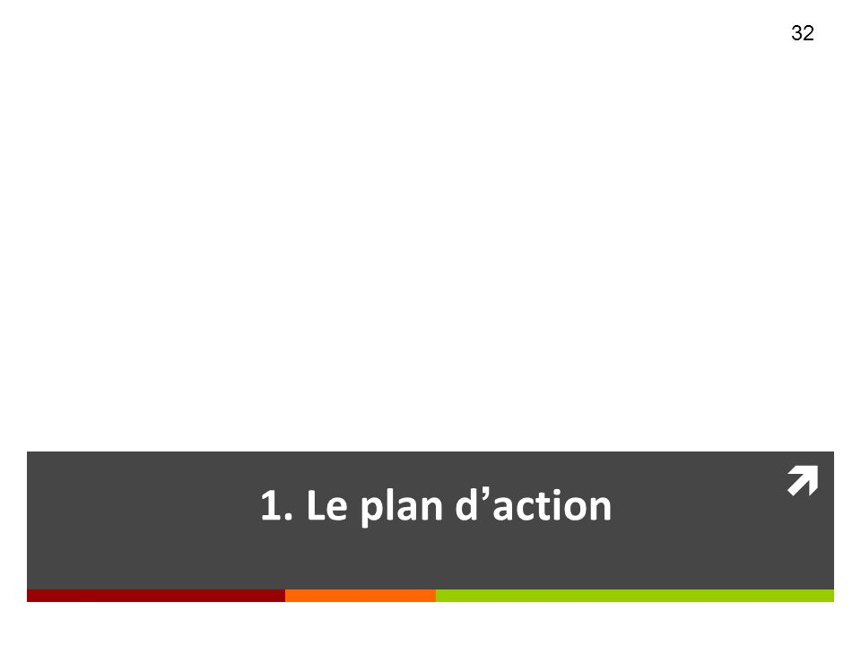 Section 1 1. Le plan d'action