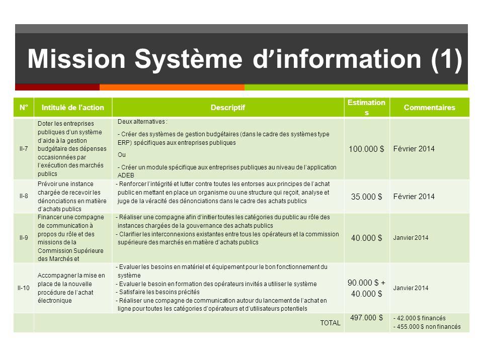 Mission Système d'information (1)