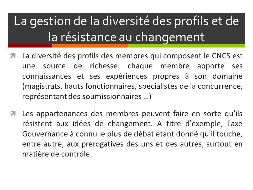 La gestion de la diversité des profils et de la résistance au changement
