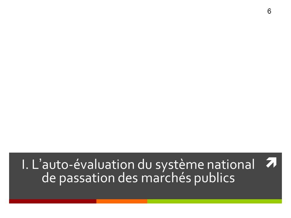 CHAPITRE I I. L'auto-évaluation du système national de passation des marchés publics