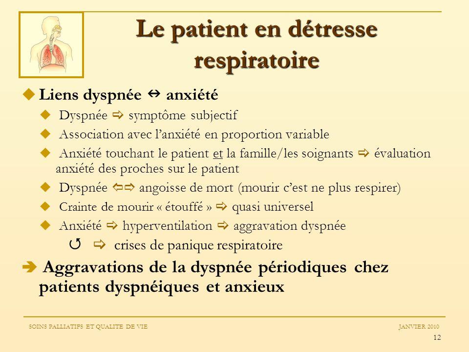 Le patient en détresse respiratoire