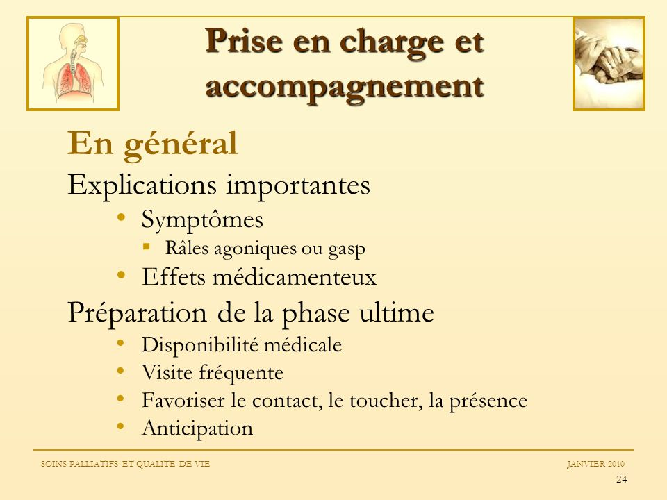 Prise en charge et accompagnement